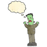 Retro cartoon frankenstein monster Stock Images