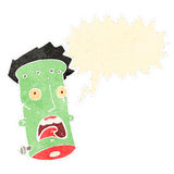 Retro cartoon frankenstein monster face Stock Photos