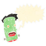 Retro cartoon frankenstein monster face Stock Photo