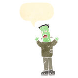 Retro cartoon frankenstein's monster Royalty Free Stock Photo