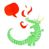 retro cartoon friendly dragon Royalty Free Stock Photos