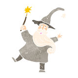 Retro cartoon friendly wizard Royalty Free Stock Photos