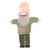 Retro cartoon frightened old man Royalty Free Stock Image