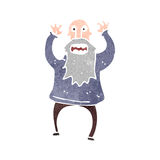 Retro cartoon frightened old man Royalty Free Stock Photo