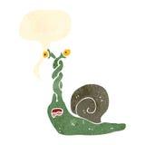 retro cartoon frightened snail Stock Photos