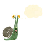 retro cartoon frightened snail Royalty Free Stock Photography