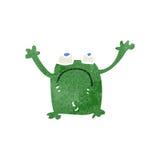 Retro cartoon frog Stock Images