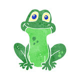 Retro cartoon frog Royalty Free Stock Images