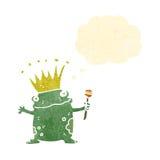 retro cartoon frog prince Stock Photography