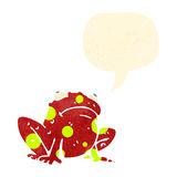 retro cartoon frog with speech bubble Royalty Free Stock Photos