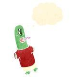 Retro cartoon funny alien Royalty Free Stock Photography
