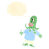 Retro cartoon funny alien Royalty Free Stock Image