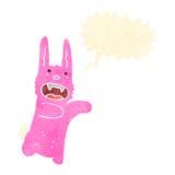 Retro cartoon funny bunny attack Royalty Free Stock Photos
