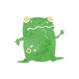Retro cartoon funny frog Royalty Free Stock Image