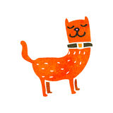 Retro cartoon funny ginger cat Stock Image