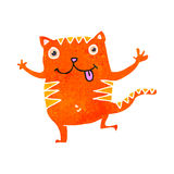 Retro cartoon funny ginger cat Royalty Free Stock Photo