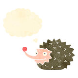 retro cartoon funny hedgehog Stock Photo