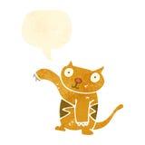 Retro cartoon funny little cat Royalty Free Stock Photo