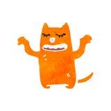 Retro cartoon funny little cat Stock Images