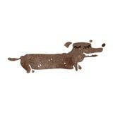 Retro cartoon funny little dog Stock Photos