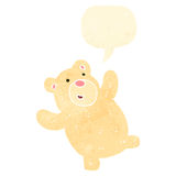 Retro cartoon funny little polar bear Royalty Free Stock Image