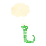 retro cartoon funny little snake Royalty Free Stock Image