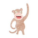 Retro cartoon funny monkey Stock Images