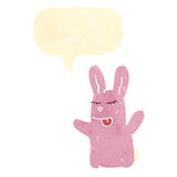 Retro cartoon funny rabbit Royalty Free Stock Photo