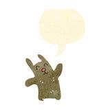 Retro cartoon funny rabbit Royalty Free Stock Images