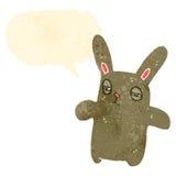 Retro cartoon funny rabbit Stock Photos