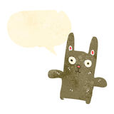 Retro cartoon funny rabbit Stock Images