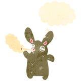 Retro cartoon funny rabbit Stock Image