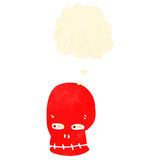 Retro cartoon funny red skull Royalty Free Stock Images