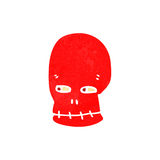 Retro cartoon funny skull Royalty Free Stock Photo