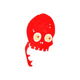 Retro cartoon funny skull Royalty Free Stock Photography