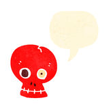 Retro cartoon funny talking skull Royalty Free Stock Images