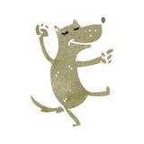 Retro cartoon funny wolf Royalty Free Stock Photo
