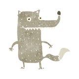 Retro cartoon funny wolf Royalty Free Stock Image