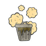 Retro cartoon garbage can Royalty Free Stock Images