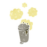 Retro cartoon garbage can Royalty Free Stock Image