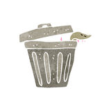 Retro cartoon garbage can Royalty Free Stock Photo