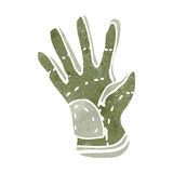 Retro cartoon garden glove Royalty Free Stock Photos