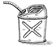 Retro cartoon gas can Royalty Free Stock Photo