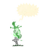 Retro cartoon ghost rising from grave Stock Images