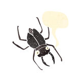 retro cartoon giant beetle with speech bubble Stock Image