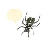 retro cartoon giant beetle with speech bubble Stock Photography