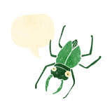 retro cartoon giant bug with speech bubble Royalty Free Stock Photo