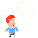Retro cartoon ginger boy Stock Photography