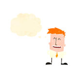 Retro cartoon ginger boy Stock Photo