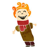 Retro cartoon ginger boy Royalty Free Stock Image